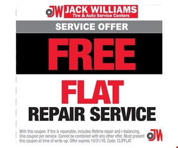 Free Flat Repair Service