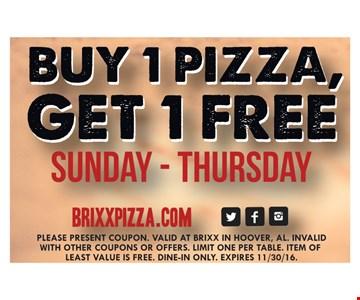 BOGO Free Pizza