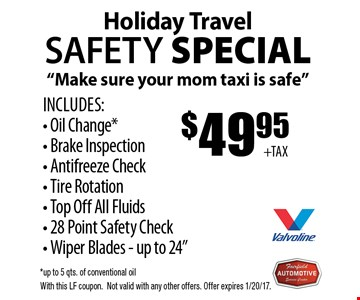 Holiday travel safety special.