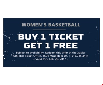 Buy 1 ticket Get 1 free
