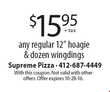 $15.95 + tax any regular 12