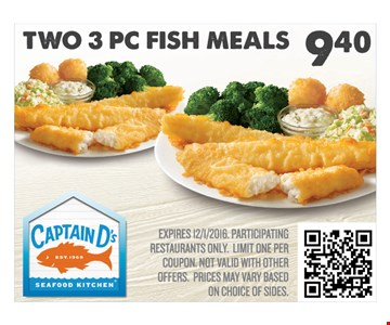 Two PC Fish Meal $6.30