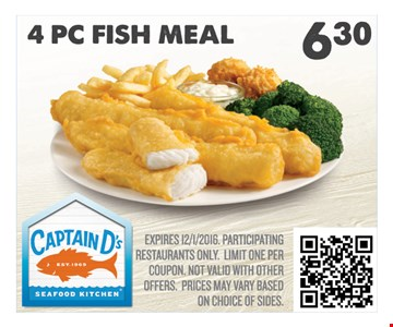 4 PC Fish Meal $6.30
