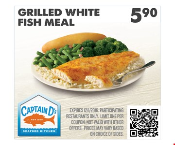 Grilled White Fish Meal $5.90