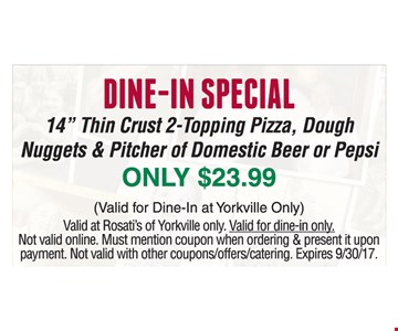 Dine-in special only $23.99