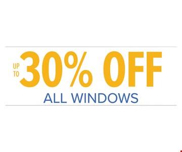 30% off all windows