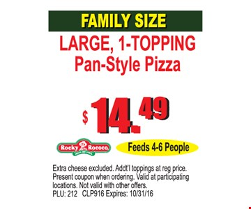 Family Size $14.49