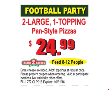 Football Party $24.99
