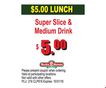 $5 Lunch
