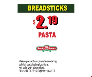 Breadsticks $2.19