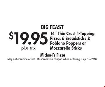 $19.95 plus tax 14
