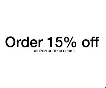 Order 15% Off