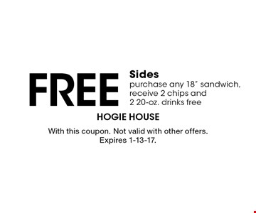 Free Sides purchase any 18