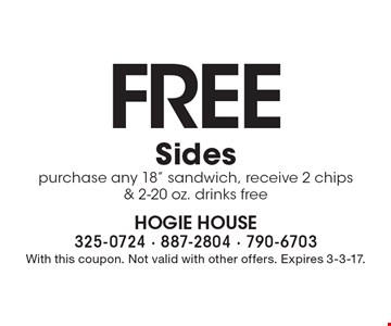FREE Sides. Purchase any 18