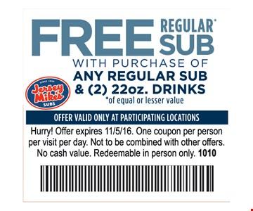 Free Regular Sub