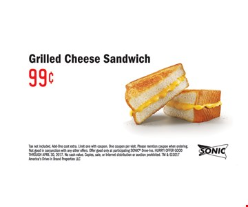 Grilled cheese sandwich .99