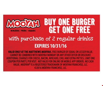 buy one burger get one free