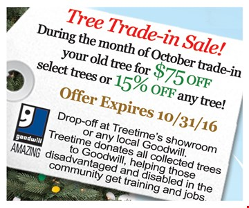 Tree Trade-in Sale