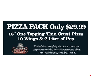 Only $29.99 Pizza Pack 18