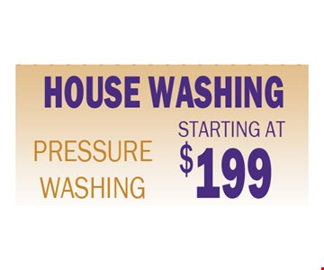 House Washing Starting at $199
