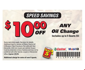 $10.00 Off Any Oil Change