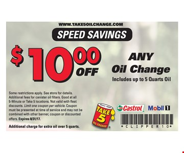 $10 Any Oil Change