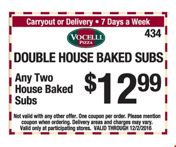 2 subs for $12.99.