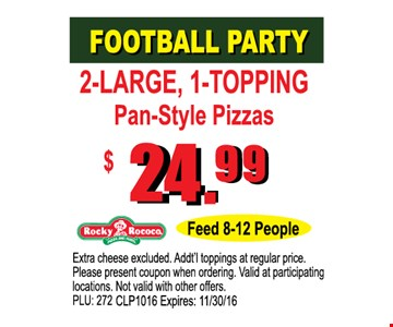 $24.99 Football Party
