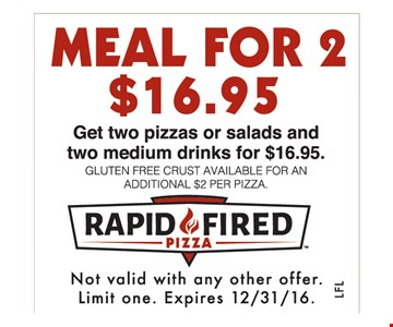 Meal for 2 $16.95