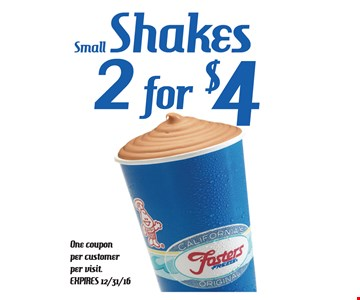 Small shakes 2 for $4