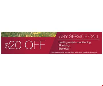 $20 off any service call.