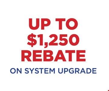 Up to $1,250 rebate