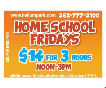 $14 for 3 hours Friday noon to 3 pm