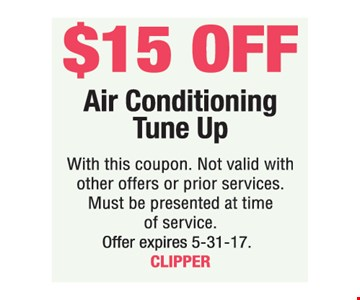 $15 Off Air Conditioning Tune Up