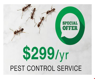 $299/yr Pest Control Service