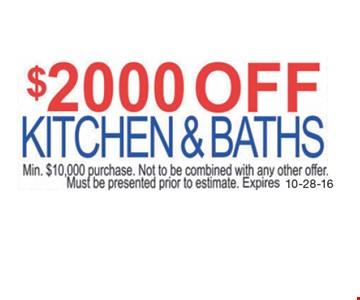 $2000 Off Kitchens & Baths