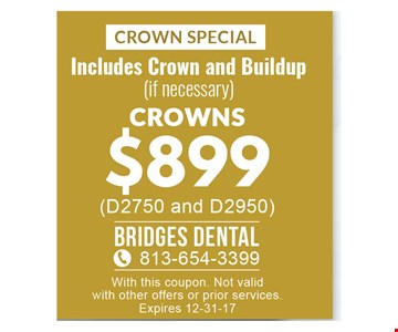 Crowns $899