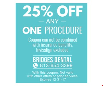 25% off any one procedure
