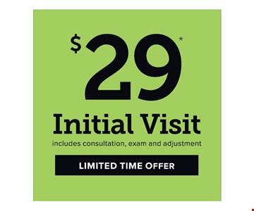 $29 initial visit
