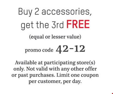 buy 2 accessories get the 3rd free