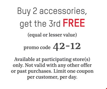 Buy 2 accessories, get the 3rd free