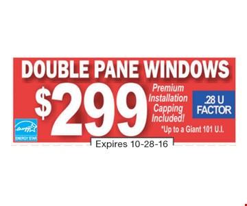 Double Pane Windows $299
