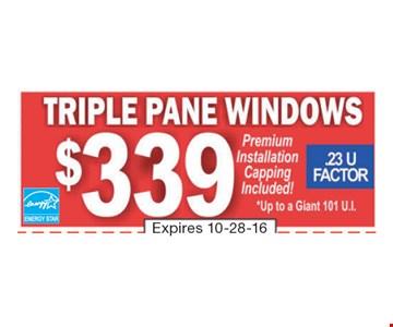 Triple Pane Windows $339