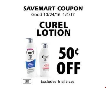 50¢ off Curel lotion. SAVEMART COUPON. Good 10/24/16-1/4/17