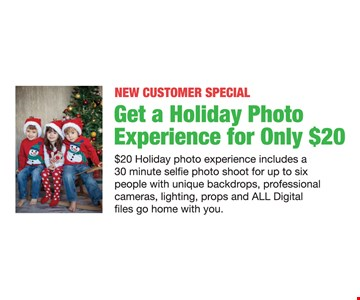 Get a holiday photo experience for only $20