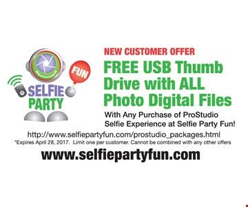 Free USB Thumb Drive with All Photo Digital Files