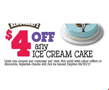 $4 off any ice cream cake