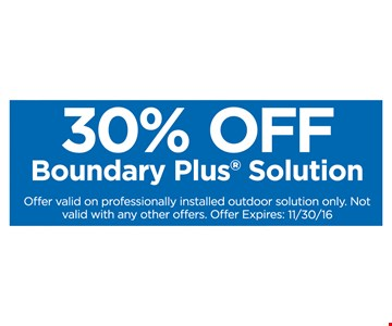 30% off Boundary Plus Solution