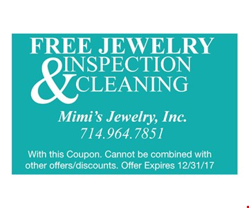 Free Jewelry Inspection & Cleaning