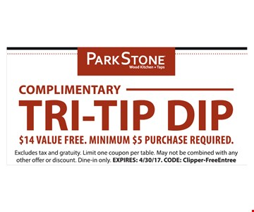 Complimentary tri-tip dip